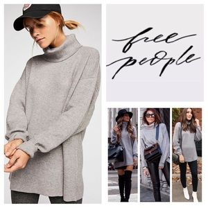 Free People Softly Structured Tunic Sweater.  NWT.